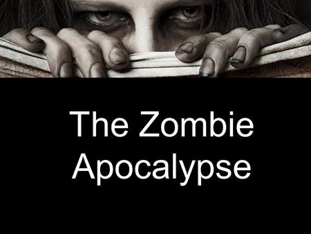 The Zombie Apocalypse. Origins Harvard psychiatrist Steven Scholzman wrote a (fictional) medical paper on the zombies presented in Night of the Living.