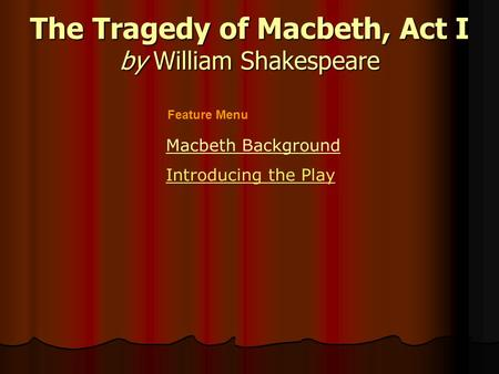 Shakespeare: Plays & Sonnets Macbeth