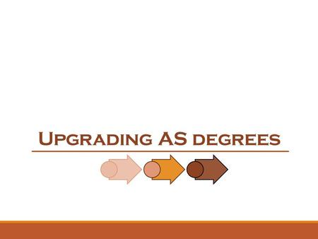 Upgrading AS degrees. 2 Upgrading AS Degrees The Associate of Science (AS) Degree Program was also created 50 years ago when Florida Community College.
