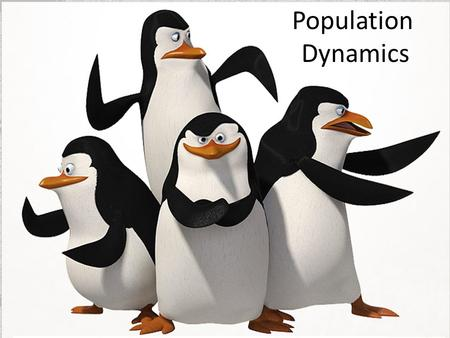 Population Dynamics. Principles of Population Growth A population is a group of organism, all of the same species, that live in a specific area. There.