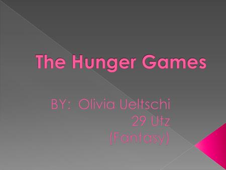 The Hunger Games is a very popular book. Maybe this is true because Suzanne Collins wrote this book very well. She makes you want to keep on reading,