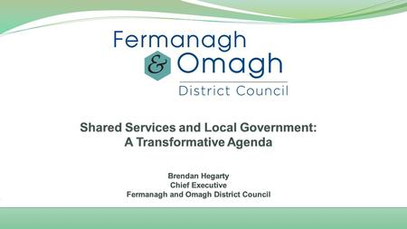"1 April 2015 – 11 New Councils New vision for Local Government: "" A thriving, dynamic local government that creates vibrant, healthy, prosperous, safe."