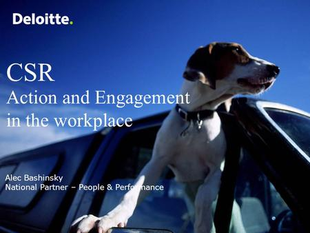 CSR Action and Engagement in the workplace