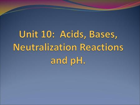 Naming Acids…Slide 3 Acids, Bases and Neutralization Reactions …Slide 8 Acids, Bases and Neutralization Reactions …Slide 8 Calculation of pH…Slide 14.