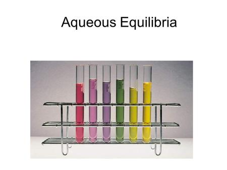 Aqueous Equilibria. The __________________________ is the shift in equilibrium caused by the addition of a compound having an ion in common with the dissolved.