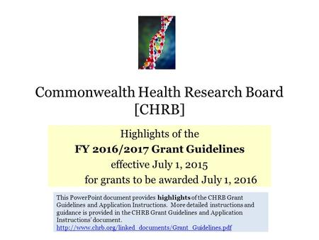 Commonwealth Health Research Board [CHRB]