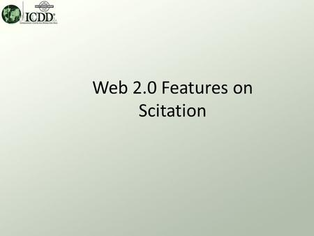 Web 2.0 Features on Scitation. Web 2.0 and Powder Diffraction Web 2.0 features can be found on the Scitation platform for Powder Diffraction –