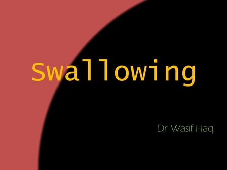 Swallowing Dr Wasif Haq.