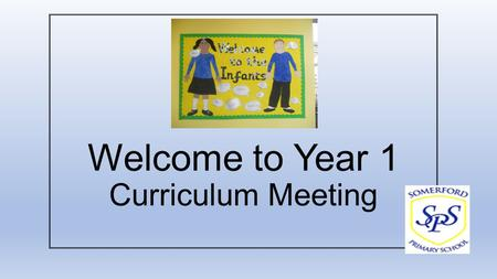 Welcome to Year 1 Curriculum Meeting