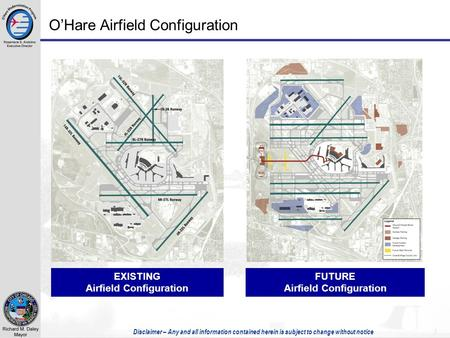 Disclaimer – Any and all information contained herein is subject to change without notice 1 O'Hare Airfield Configuration EXISTING Airfield Configuration.