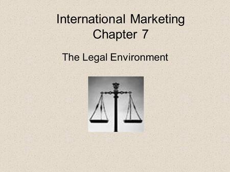 International Marketing Chapter 7