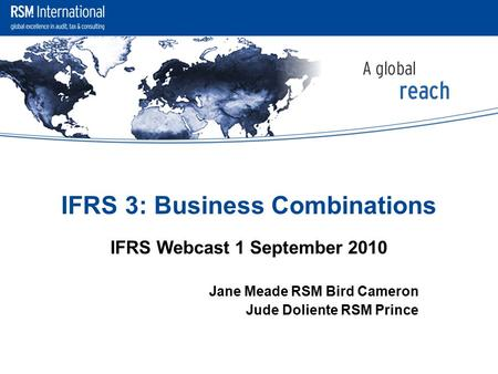 IFRS 3: Business Combinations