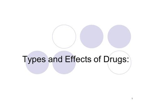 1 Types and Effects of Drugs:. 2 Hallucinogens Health effects include:  Sense of distance and estrangement  Mood disorders  Dilated pupils  Elevated.