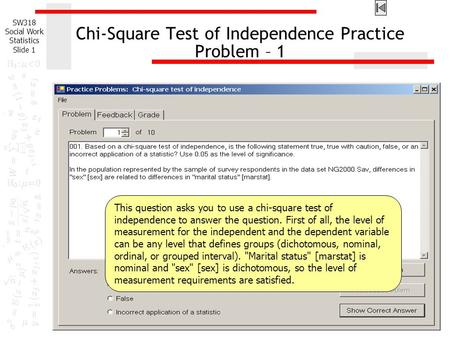 Chi-Square Test of Independence Practice Problem – 1