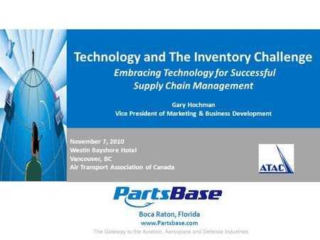 Technology and The Inventory Challenge Embracing Technology for Successful Supply Chain Management Gary Hochman Vice President of Marketing & Business.