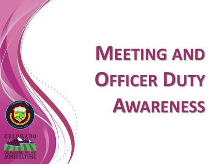 M EETING AND O FFICER D UTY A WARENESS. What is a Meeting? Any kind of gathering convened to discuss public business, in person, by telephone, electronically.