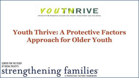 Youth Thrive: A Protective Factors Approach for Older Youth.