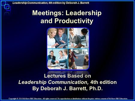 Meetings: Leadership and Productivity