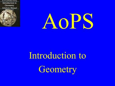 AoPS Introduction to Geometry. Chapter 3 Congruent Triangles.
