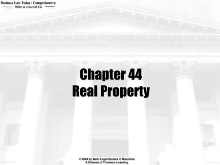 Chapter 44 Real Property. 2  What can a person who holds property in fee simple do with the property? Can a person who holds property as a life estate.