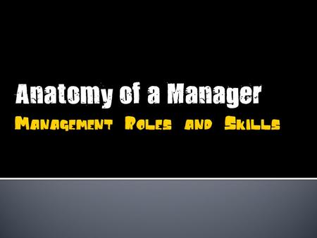 A role is a set of behaviours associated with a particular job.