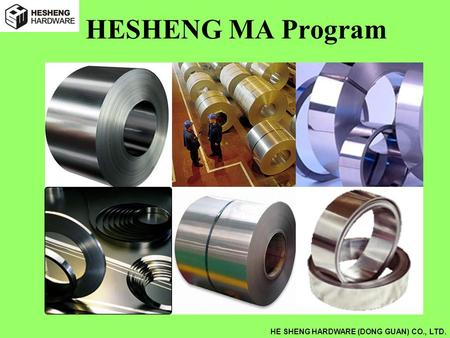 HE SHENG HARDWARE (DONG GUAN) CO., LTD. HESHENG MA Program.