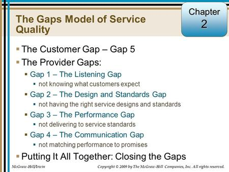 How to Close Various Gaps in Service Quality?