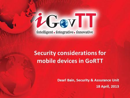 Security considerations for mobile devices in GoRTT