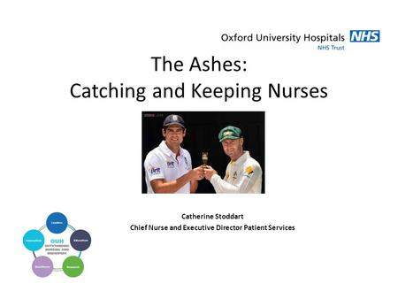 The Ashes: Catching and Keeping Nurses Catherine Stoddart Chief Nurse and Executive Director Patient Services.