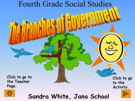 Fourth Grade Social Studies Sandra White, Jana School Click to go to the Teacher Page. Click to go to the Activity.