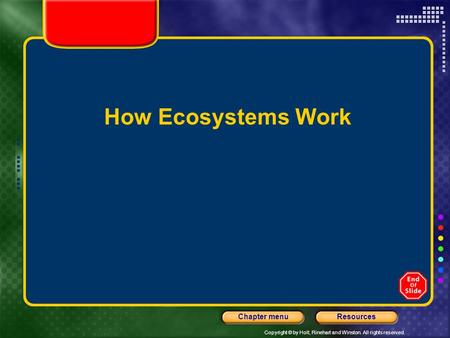 How Ecosystems Work.