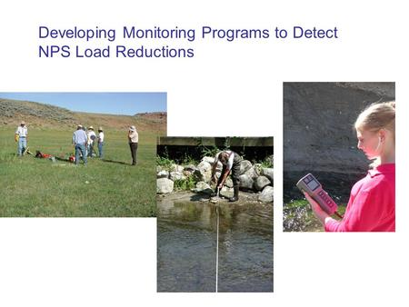 Developing Monitoring Programs to Detect NPS Load Reductions.