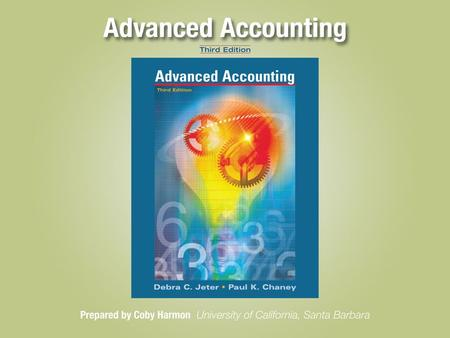 Chapter 3-1. Chapter 3-2 Consolidated Financial Statements—Date of Acquisition Advanced Accounting, Third Edition 33.