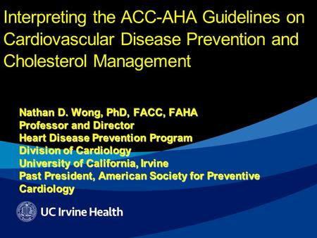 new guidelines for cholesterol management