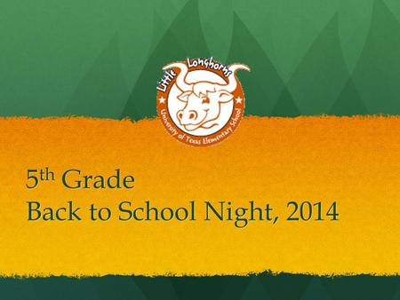 5 th Grade Back to School Night, 2014. Contact Information Conference Time: 1:50-3:20 PM daily  s: - Language Arts and.