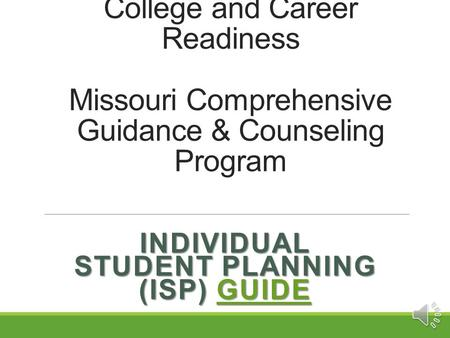 Individual Student Planning (ISP) Guide