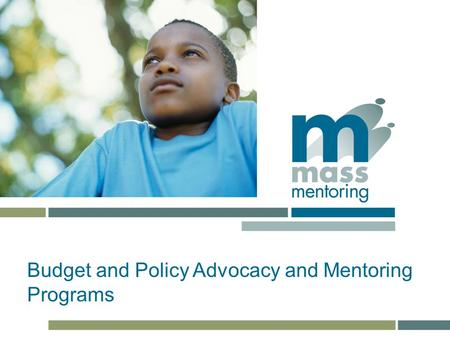 TITLE subtitle Budget and Policy Advocacy and Mentoring Programs.