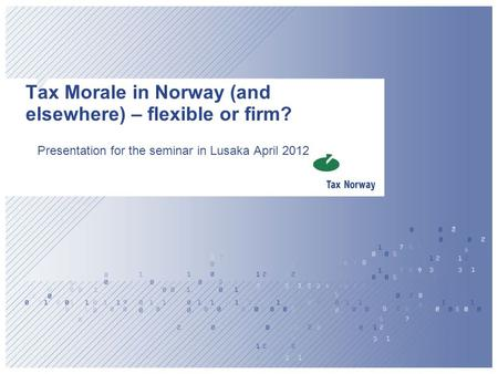 Tax Morale in Norway (and elsewhere) – flexible or firm?