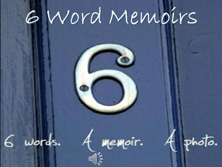 6 Word Memoirs. Memoirs noun 1. a record of events written by a person having intimate knowledge of them and based on personal observation. 2. Usually.