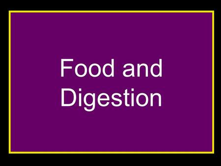Food and Digestion. After studying this topic you should be able to: Explain what is meant by a balanced diet Describe chemical tests to identify proteins,