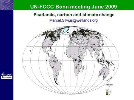 UN-FCCC Bonn meeting June 2009 Peatlands, carbon and climate change