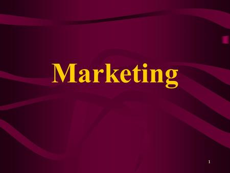 1 Marketing. 2 Why Market? To communicate that you are engaged in new and different activities To attract paying customers in sufficient numbers to support.