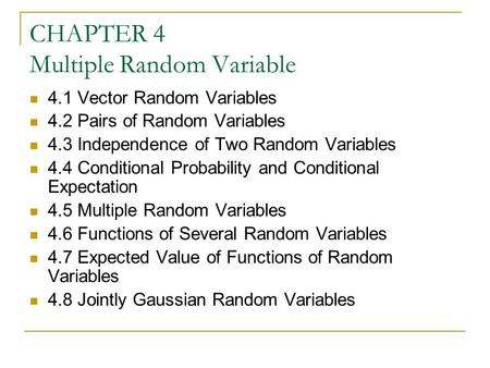 an analysis of random variables in different experiments Statistical analysis of quasi-experimental random assignment is used in experimental designs to help assure that different in analyzing the equivalence of the groups on the iq score variable you could enter the iq scores as separate variables an analysis of variance of the.