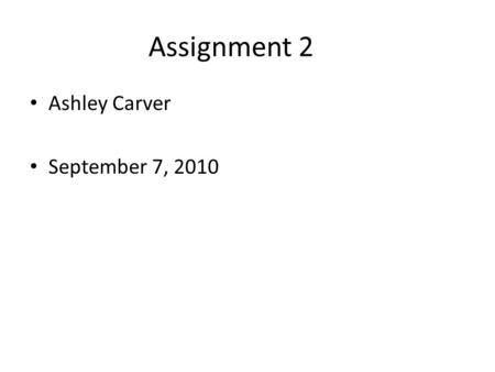 Assignment 2 Ashley Carver September 7, 2010. Podcasts A series of digital media files that are released episodically and often downloaded through web.