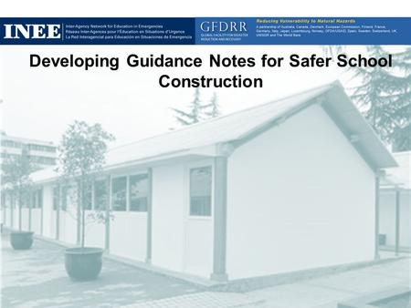 Developing Guidance Notes for Safer School Construction Image: