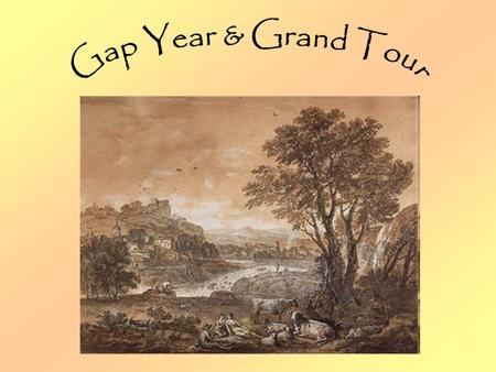 The Gap Year A gap year is a term that refers to a prolonged period between a life stage. Traditionally they are seen as time out to travel between school.