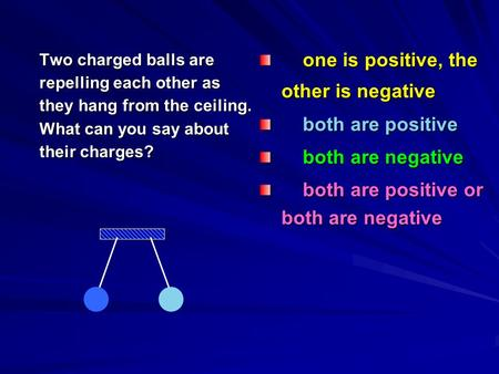 One is positive, the other is negative one is positive, the other is negative both are positive both are positive both are negative both are negative both.