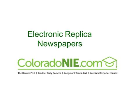 Electronic Replica Newspapers. Identical to the print edition – but enhanced. Viewing options: switch to single or double page mode choose – and + to.