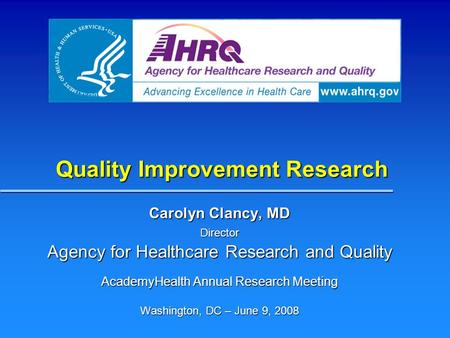 Quality Improvement Research