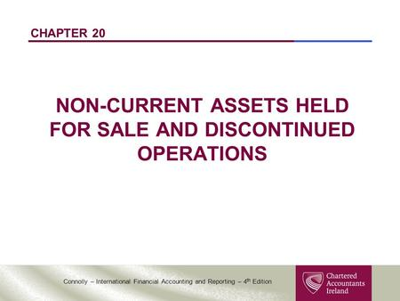 NON-CURRENT ASSETS HELD FOR SALE AND DISCONTINUED OPERATIONS